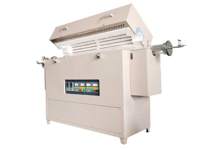Multi Zone Lab Tube Furnace 1200 ℃ / 1400 ℃ / 1600 ℃ With Three Way Flange