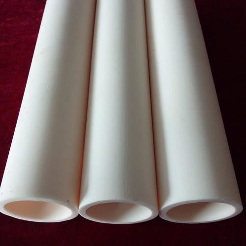 99.6 % Al2O3 Alumina Ceramic Tube , Wear Resistance Alumina Ceramic Pipe